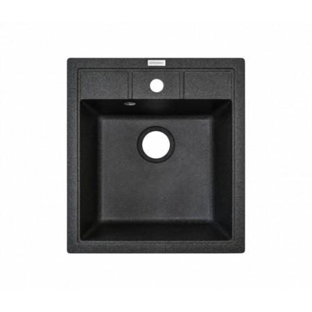 Гранитная мойка Adamant черная Brick 460*515*200