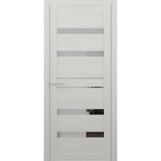Двери межкомнатные Albero Дрезден белые (зеркало) Vinil