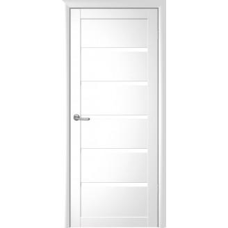 Двери межкомнатные Albero Вена со стеклом сатин белые покрытие Vinil