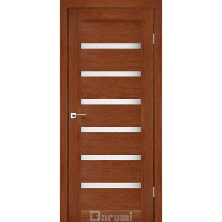 Дверное полотно Vela орех роял со стеклом сатин