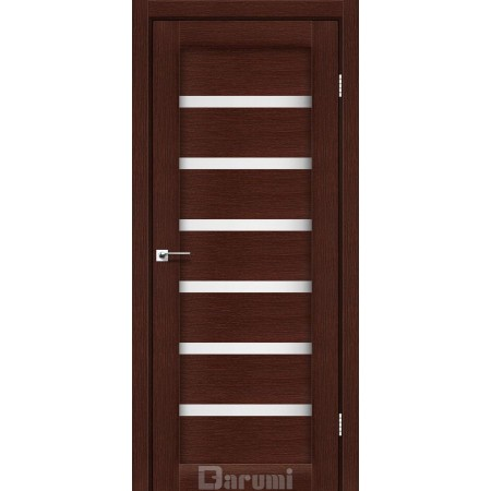 Дверное полотно Vela венге панга со стеклом сатин