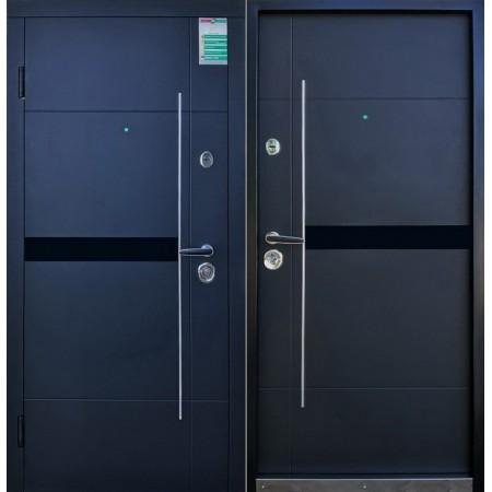 Двери входные Елис Черная шагрень 880*2040мм  для квартиры Производитель Steel Art