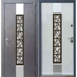 Двери входные Коттедж SP-2 для улицы 850(950)*2030мм  Наружная отделка Бетон 3D Внутренняя отделка   Белое дерево Производитель Steel Art