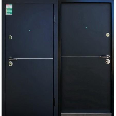 Двери входные Монако  Черная шагрень 880*2040ммдля квартиры Производитель Steel Art