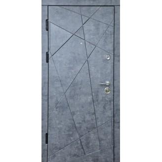 Двери входные Диамант в квартиру мрамор темный  850мм на 2050 мм