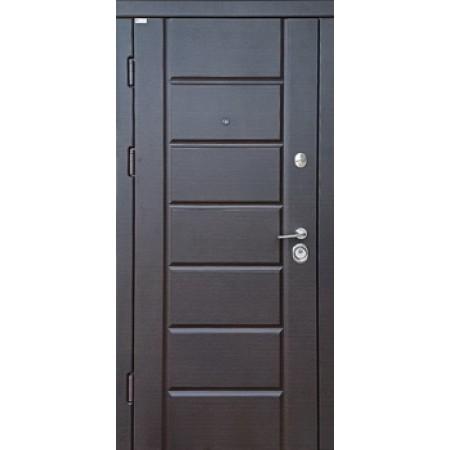 """Двери входные """"МИРА NEW""""    Дуб тик темный 850(950)*2030мм  для квартиры Производитель Steel Art"""