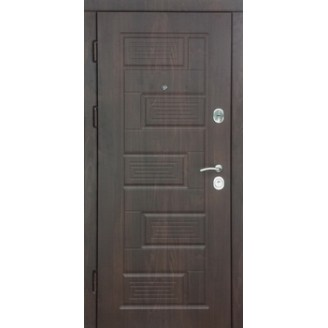 """Двери входные """"Пиана""""   тик темный 850(950)*2030мм  для квартиры Производитель Steel Art"""