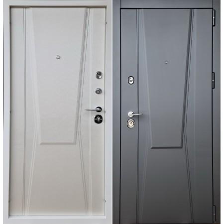 Двери входные 3D Home для квартиры 850мм на 2050мм асфальт/ вершковый