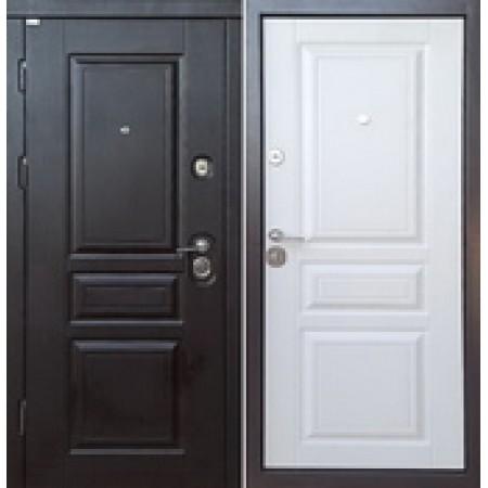 Двери Входные  Троя 3D Прайм Цвет внутри Белый матовый Цвет снаружи Венге южное 850 *2030мм  для квартиры Производитель Steel Art