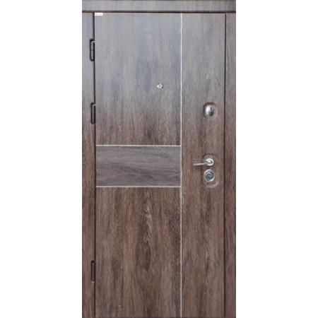 Двери входные Троя DA-2 Цвет - корица дуб шале 850(950)*2030мм Производитель Steel Art