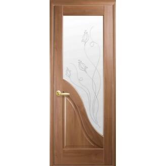 Двери межкомнатные Амата P2 золотая ольха
