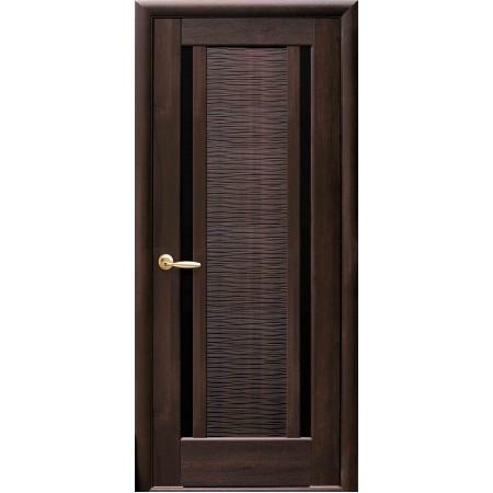 Двери межкомнатные Новый Стиль Луиза с черным стеклом
