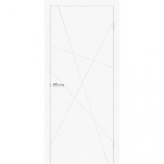 Двери Омис Геометрия 01 белый silk matt