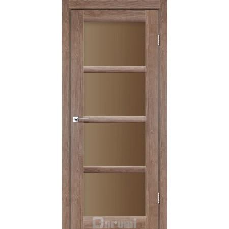 Двери AVANT Орех бургун стекло сатин бронза