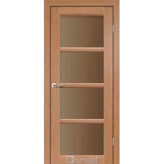 Двери AVANT Дуб натуральный стекло сатин бронза