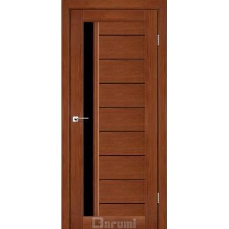 Двери BORDO Орех роял черное «Lacobel»