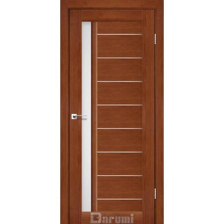 Дверное полотно Bordo орех роял со стеклом сатин