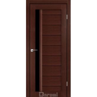 Двери BORDO Венге панга черное «Lacobel»