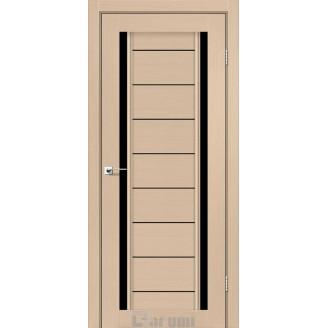 Двери MADRID Дуб боровой стекло черное «Lacobel»
