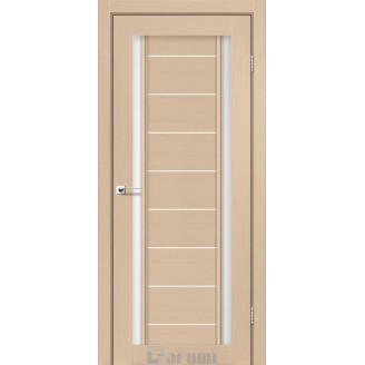 Двери MADRID Дуб боровой со стеклом сатин белый