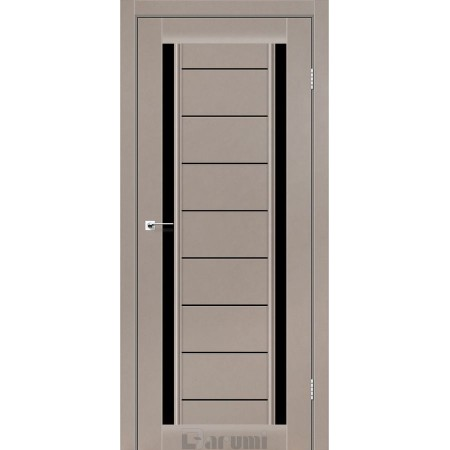 Двери MADRID Орех бургун стекло черное «Lacobel»