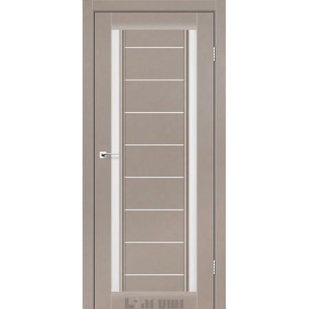 Двери MADRID Орех бургун со стеклом сатин белый