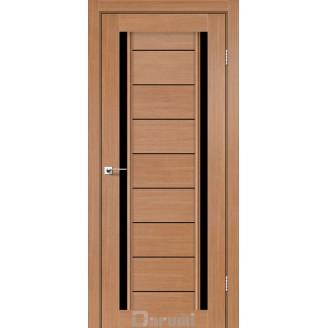 Двери MADRID Дуб натуральный стекло черное «Lacobel»