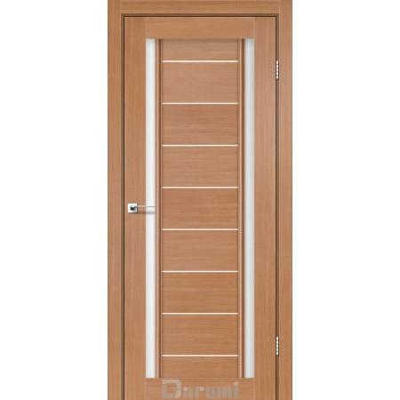 Двери MADRID Дуб натуральный со стеклом сатин белый