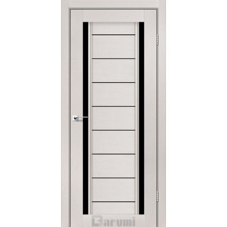 Двери MADRID Дуб ольс стекло черное «Lacobel»