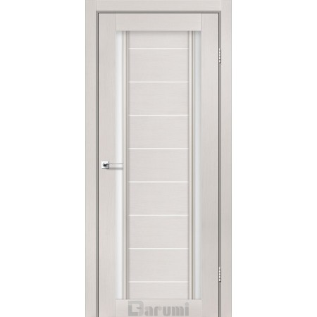 Двери MADRID Дуб ольс со стеклом сатин белый
