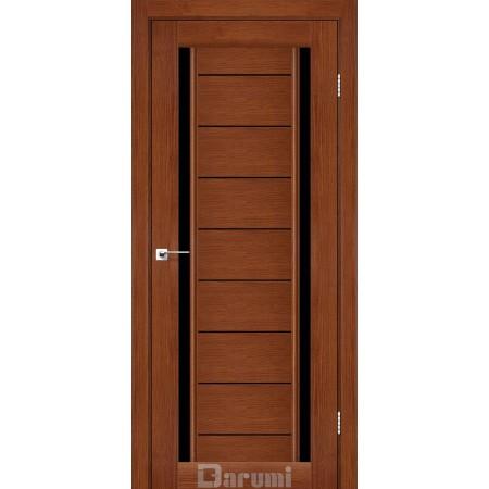 Двери MADRID Орех роял стекло черное «Lacobel»