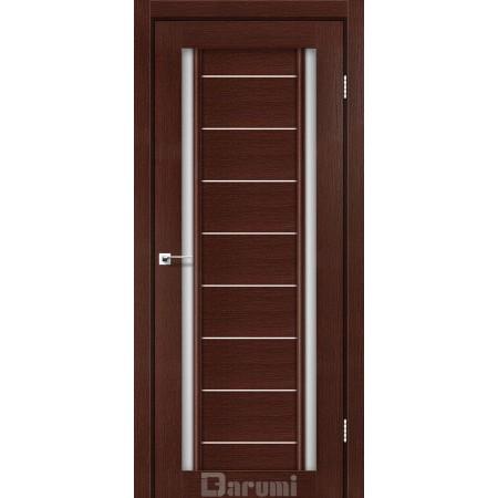 Двери MADRID Венге панга со стеклом сатин белый