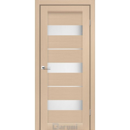Двери MARSEL Дуб боровой со стеклом сатин белый