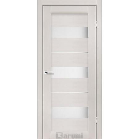 Двери MARSEL Дуб ольс  со стеклом сатин белый