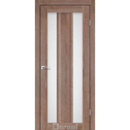 Двери SELESTA орех  бургун со стеклом сатин