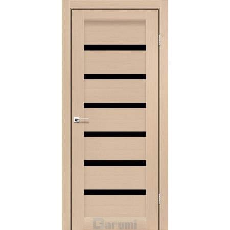 Двери VELA Дуб боровой  стекло черное «Lacobel»