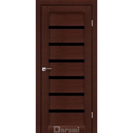 Двери VELA Венге панга стекло черное «Lacobel»