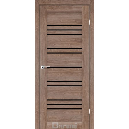 Двери VERSAL Орех бургун стекло черное «Lacobel»