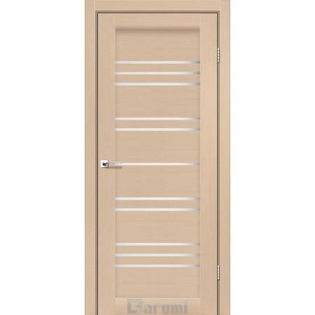 Двери VERSAL Дуб боровой со стеклом сатин белый