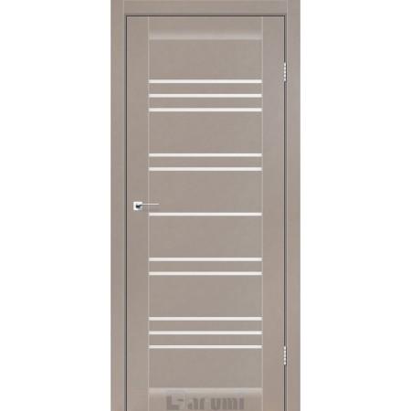 Двери VERSAL Орех бургун со стеклом сатин белый