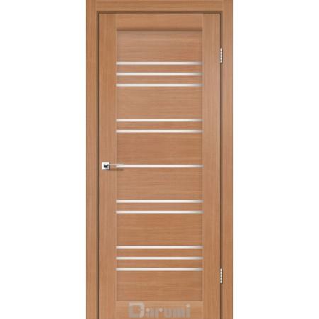 Двери VERSAL Дуб натуральный со стеклом сатин белый