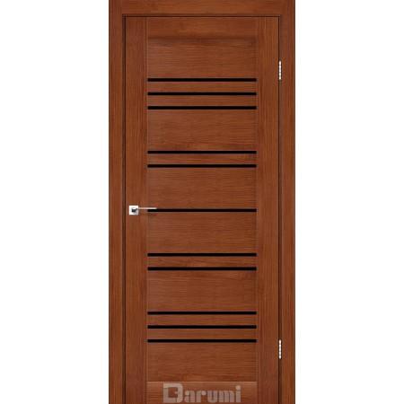 Двери VERSAL Орех роял стекло черное «Lacobel»