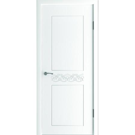 Двери межкомнатные Фламенко белый супер мат