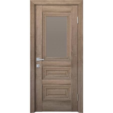 Двери межкомнатные Новый Стиль Камилла со стеклом орех европейский