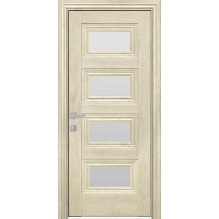 Двери межкомнатные Новый Стиль  Тесса со стеклом орех гималайский