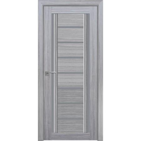 Двери межкомнатные Флоренция  со стеклом графит жемчуг серебряный