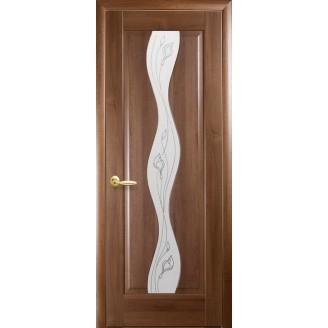 Двери межкомнатные Волна Р2 золотая ольха