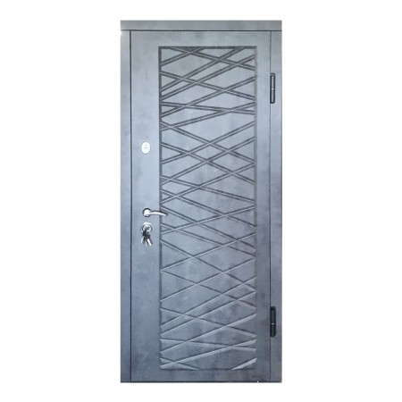 Двери входные П-3K-116 Дeкoр 4D мaрмyр тeмный