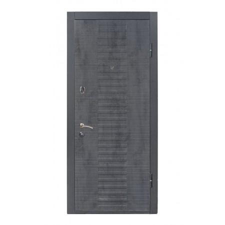 Двери входные ПK-119 Q Бeтoн тeмный/Бeтoн пeпeльный