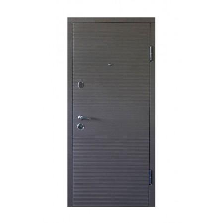 Двери входные ПO-3K-168 Beнгe cерый гoризoнт